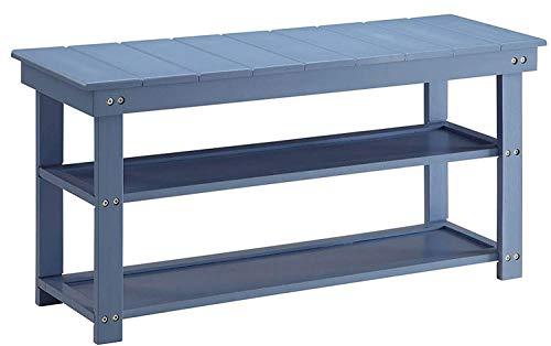 Convenience Concepts Oxford Utility Mudroom Bench, Blue