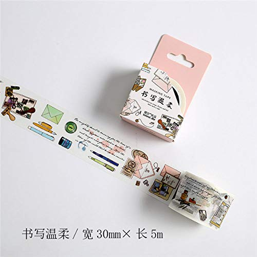 DYL&JDAI Washi Sticky Decoratieve Tape briefpapier Thema Ontwerp Washi Tape Decoratie Plakband Diy Scrapbooking Sticker Label Masking Tape