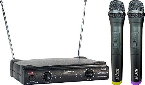 Party Light & Sound PARTY-200UHF 2-Kanal Funkmikrofonsystem mit 2 Handsender