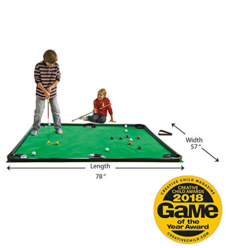 HearthSong Golf Pool Indoor Family Game Kids Toy Carbon Fiber 78