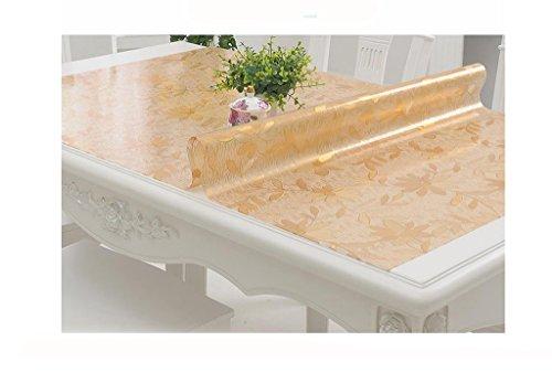 Nappes Tissu de table Runner - Tissu de table en plastique transparent, platine en plastique de table en cristal ( Couleur : A thickness of 1.0 mm , taille : 80*135cm )