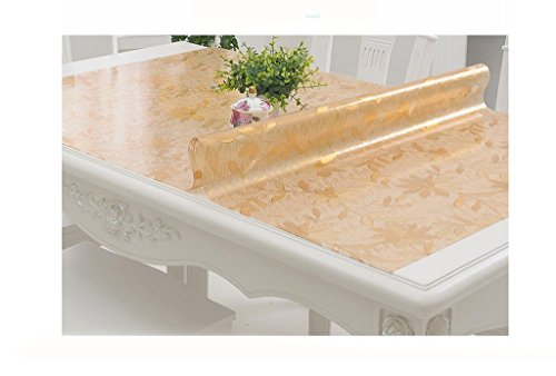 Tafelkleed, tafelloper, transparant, plastic tafelkleed, kristallen plaat plastic tafelloper, (kleur: A thickness of 1,0 mm, afmeting: 70 x 140 cm)