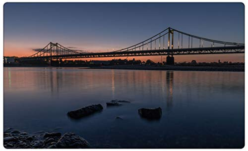 City Skyline Krefeld Uerdinger Brücke Wandtattoo Wandsticker Wandaufkleber R1430 Größe 60 cm x 90 cm