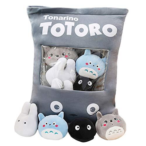 Schattig sierkussen Knuffel Verwijderbare pluizige konijntjes Kat Totoro Aardbei Beer Kawaii Kussen Knuffel Set Creatief cadeau voor tieners Meisjes Kinderen