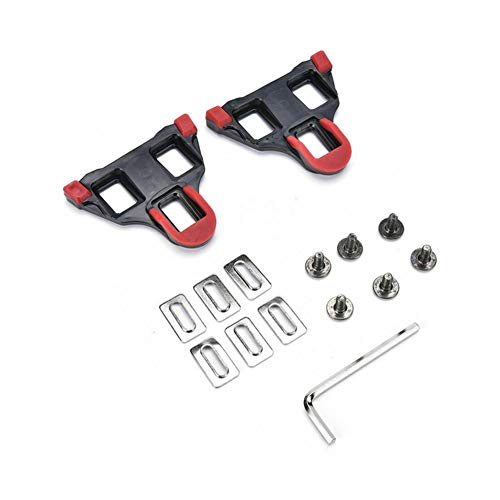 JINSUO Moonlight Star Bike Pedals-Road Bike Pedal Cleats Steel Road Cycling SM-SH10/11/12 Cleat Set 0/2/6° Float SPD-SL 2Pair (Color : Red)