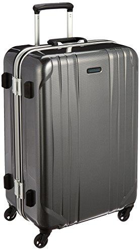 [ワールドトラベラー] スーツケース サグレス 66L ストッパー付 TSAロック 62 cm 4.7kg ブラックカーボン