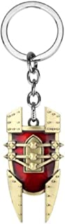 LOL the Mad Chemist Singed's Shield Pattern Keychain Red and Gold