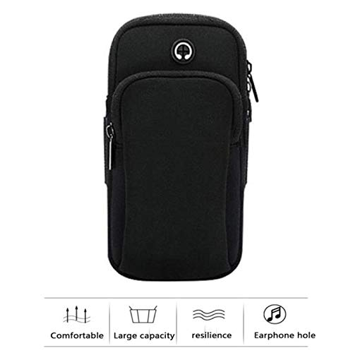 Bolsa de brazo deportivo bolsa de muñeca diseño de orificio para auriculares bolsa de brazo de teléfono móvil