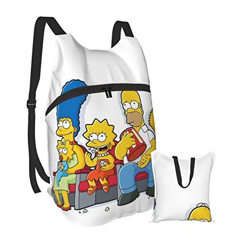 Cartoons Lustige Simpsons Rucksäcke Wanderungen Männer Frauen Kleine wasserdichte tragbare Klapprucksack Sport Shopping Ultraleichte Casual Taschen