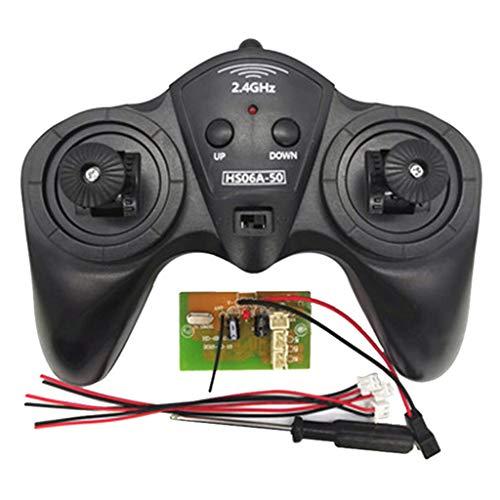 sharprepublic 2.4G 6 Canales 12V Control Remoto y Receptor Piezas de Repuesto para Modelo de Barco Auto Radiocontrol