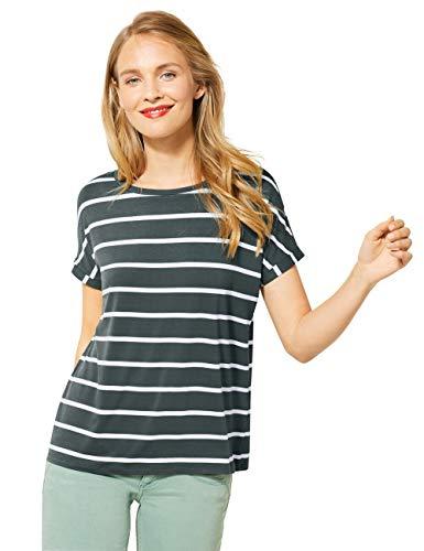 Street One Damen 315061 Crista YDS T-Shirt, Comfort Green, 44