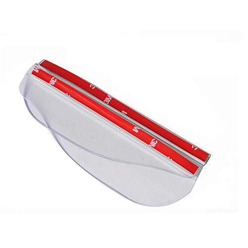 Universal Flexible PVC Accesorios para coche Espejo retrovisor lluvia sombra a prueba de lluvia Cuchillas auto espejo trasero Ceja lluvia cubierta 2 unids (transparente)