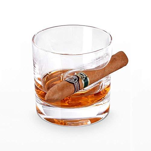 COLiJOL Porta Cigarrillos Vaso de Whicon Soporte para Cigarros Soporte de Cristal Cenicero para Cigarros Cigarros Transparentes Soporte para Ceniceros Taza de Cigarros Ceniceros Vaso de Whisky