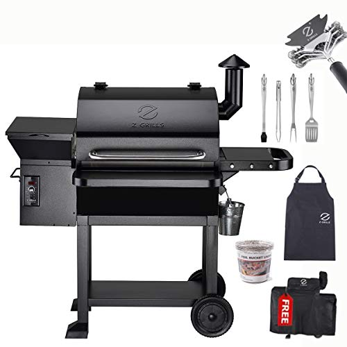 Z GRILLS Wood Pellet Grill and Smoker 10002B True 8-in-1 BBQ Grill 3 Grilling Racks for Big Family (ZPG-10002B-Bonus#2)