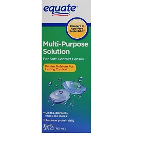Equate Sterile Multi-Purpose Contact Lenses Solution for Soft Contact Lenses (Compare to Opti-Free Replenish) 12 FL OZ