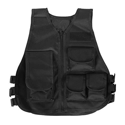 Tbest Gilet Protettivo da Gioco,Molle Combat Vest Tattico Gilet Airsoft Militare Tattico Gilet Army Fans Gilet per Giochi all'aperto.(Nero-Adulto)