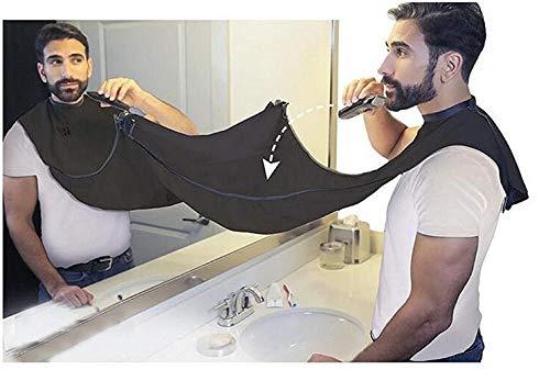 Doek Household Cleaning Protections Man Badkamer Schort zwarte baard Care Trimmer Haar Shave Schort voor Man Waterdichte Floral