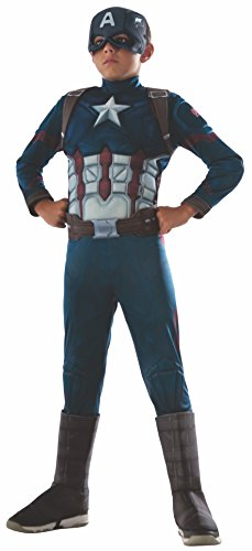Rubies Costume Officiel Marvel Captain America pour Enfant Taille S