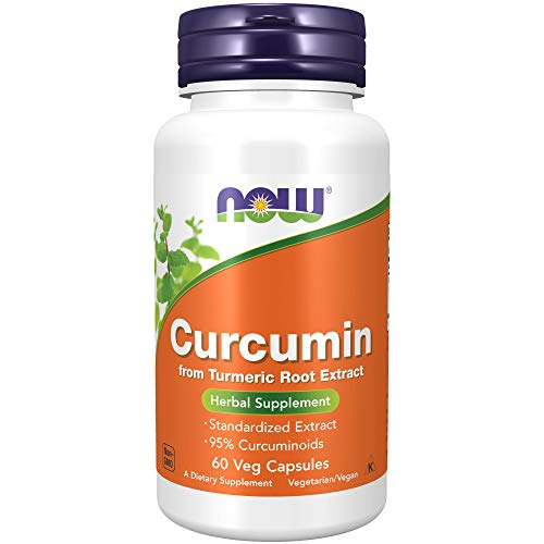 NOW Supplements, Curcumin, derived from Turmeric Root Extract, 60 Veg Capsules