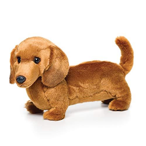Standing Large Dachshund Dog Caramel Brown Children's Plush Stuffed Animal Toy
