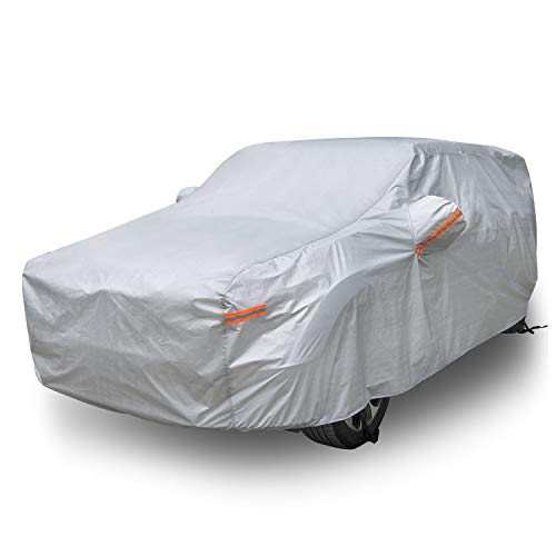 Morhept SUV Car Cover Waterproof All Weather for Automobiles, Heavy Duty Full Exterior Covers All...