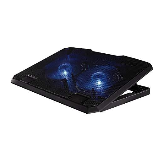 """Hama Black 15.6"""" Negro Almohadilla fría - Base de refrigeración (39,6 cm (15.6""""), 2 Pieza(s), 33,8 cm (13.3""""), 14 cm, 23 dB, Negro)"""