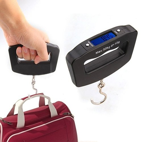 quanju cheer Tragbare 50 Kg Tragbare Waage Elektronische Waage Haken LCD Digital Hängende Haken Gewicht Gepäck Nützliche Elektronische Waage