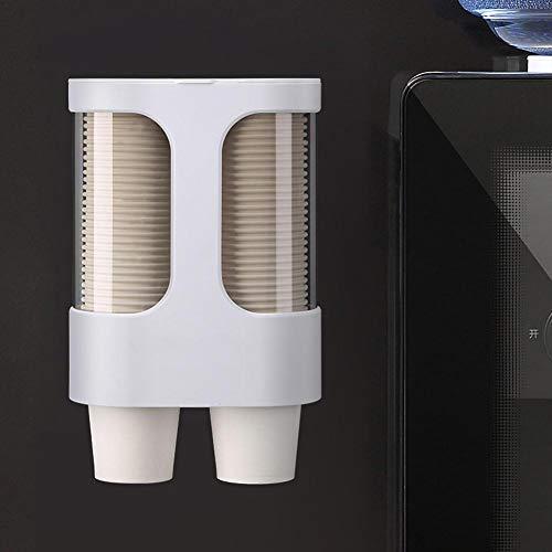 Ablerfly PITCHBLA Acomoda hasta 80 vasos de papel de 7,5 cm de diámetro Portavasos desechables Dispensador de plástico montado en la pared para vasos de papel advantage high quality