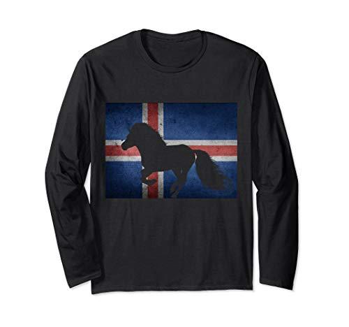 Islandpferd Icelandic Horse Islandflagge Reiten Langarmshirt