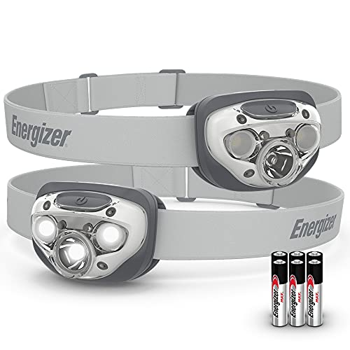 Energizer LED Headlamp [2-Pack], High-Performance Outdoor Lighting Gear, IPX4 Water Resistant Headlamps, Bright and Durable, Batteries Included