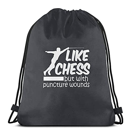 TYSS Bolsa con cordón como el ajedrez pero con heridas punzantes, mochila deportiva para gimnasio, bolsa de viaje para niños, hombres y mujeres