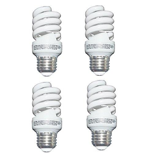 13 Watt (60 Watt) Compact Fluorescent Light, Soft White 2700K, 1040LM, Spiral Medium Base CFL Light Bulbs (4 Pack)