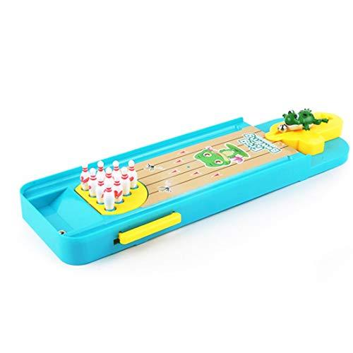 Swiftswan Interaktives Spielzeug Mini-Frosch Bowlingtisch Tischspiel Pädagogischer Spielzeugwerfer für Kinder Eltern-Kind-Interaktion