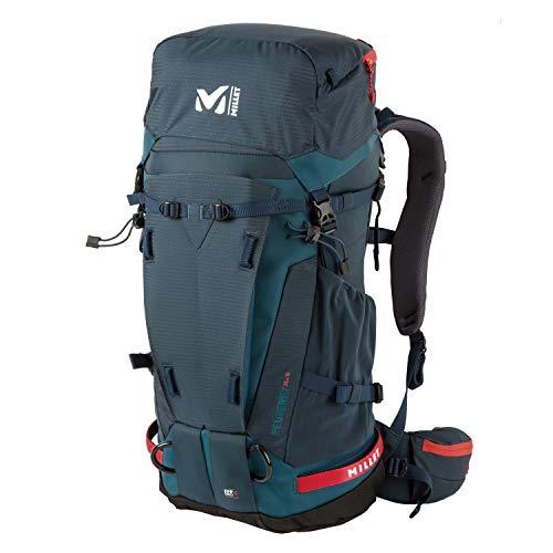 Millet – Peuterey Integrale 35+10 – Sac à Dos Mixte pour Alpinisme, Ski De Randonnée et Trekking – Volume Extensible 35+10 L – Bleu marine