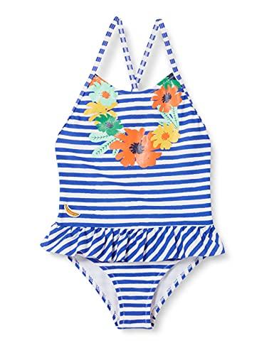 Tuc Tuc BAÑADOR Tropicool Traje de baño de una Sola Pieza, Azul, 3A para Niñas