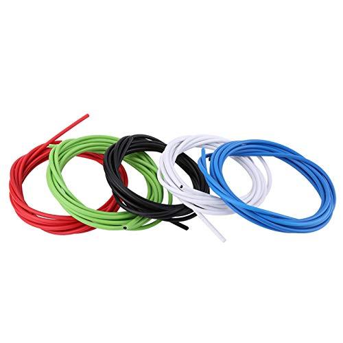 VINGVO Cables de Cambio de Bicicleta, 4 mm 100 g 5 Colores Carcasa de Cambio de Bicicleta, anticorrosión para Bicicletas de Carretera MTB Bicicletas de Carretera Bicicletas(Black)