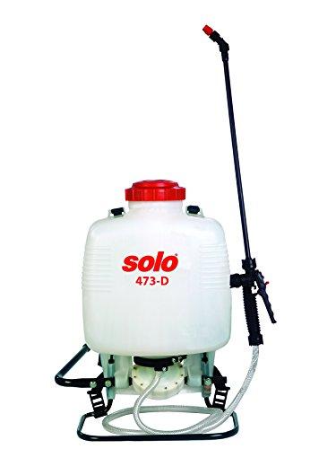 Solo 473-diaphragm Pump 3-Gallon Professional Backpack Sprayer, for Bleach & Wettable Powders, Ergonomic Design