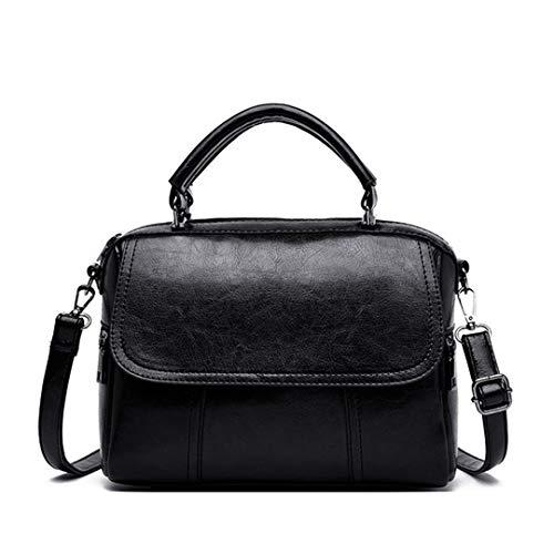 Frauen Umhängetasche Frau PU-Leder-Frauen Kuriertaschen Kleine Bowling-Handtaschen Black About 25cm 11cm 19cm