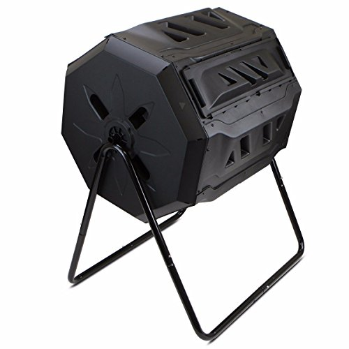 Fantastic Deal! AK Energy 5 Ft3 Composter Tumbler yard Garden Waste Bin Grass Food Trash Fertilizer ...