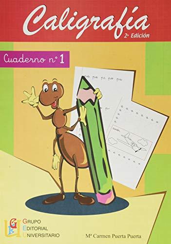 Caligrafía con pauta de cuadrícula - Cuaderno 1   Editorial GEU  Mejora la escritura   Correcta realización del trazo   Cuadrícula de 4 mm