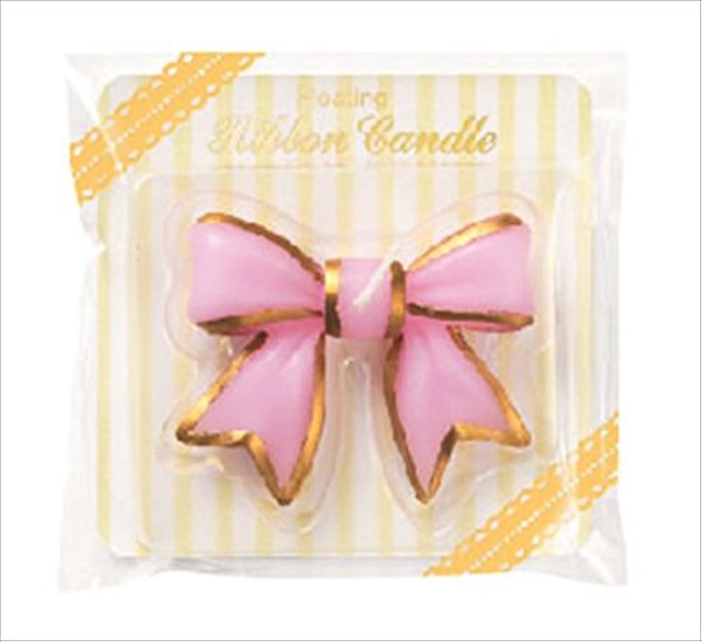 ロック表面的な満員カメヤマキャンドル(kameyama candle) フローティングリボンキャンドル 「 ピンク 」