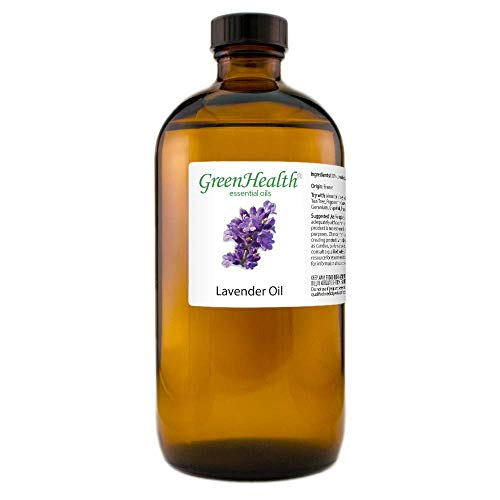 GreenHealth Lavender – 100% Pure Essential Oil 16 fl oz (473 ml) Glass Bottle