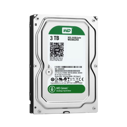 WD HDD 内蔵ハードディスク 3.5インチ 3TB Green WD30EZRX-1TBP / Intellipower / SATA3.0 / 2年保証