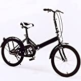20 Inch Folding Bike for Adult Men and Women Teens, Light Weight Mini 7 Speed Folding Bike Free Locker and Bag USD 52 Value Gray Color