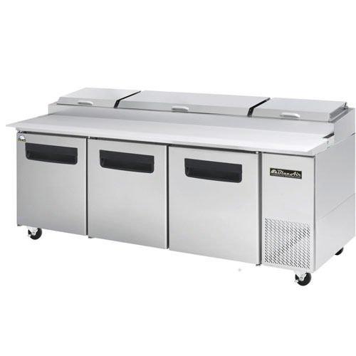 Blue Air BAPP93 Three Door Pizza Prep Table 93 Inches Refrigerator. True 3 Yr Parts/Labor 5 yr Compressor Warranty