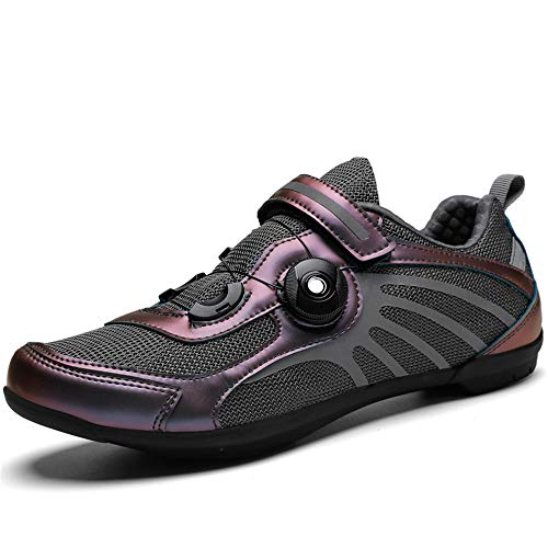 BETOOSEN Men and Women Comfortable Breathable Outdoor Road Cycling Shoes Indoor Bike Sneaker Bicycle Shoes (6 M US Women/5.5 M US Men, Rose Gold)