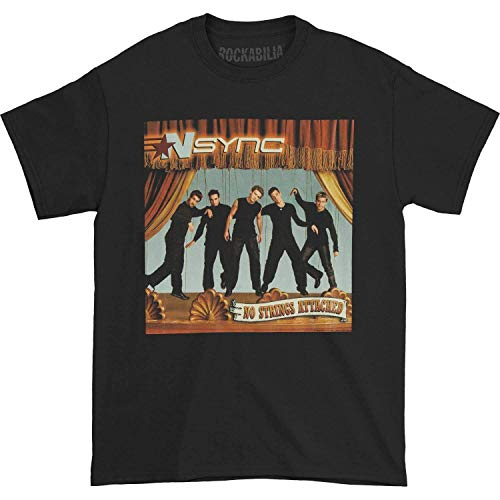 FOR NSYNC No Strings Black Adult T-Shirt Tee Camicie e T-Shirt(Large)