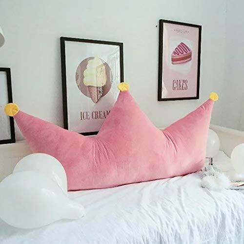 WZNING - Cojín para mesita de noche con diseño de triángulo, para lectura de la cabeza del tatami, respaldo de lectura, almohada de cuña, cojín para sofá, almohada lumbar, doble cama, bolsa suave, cojín para silla de oficina, B, 90*40cm