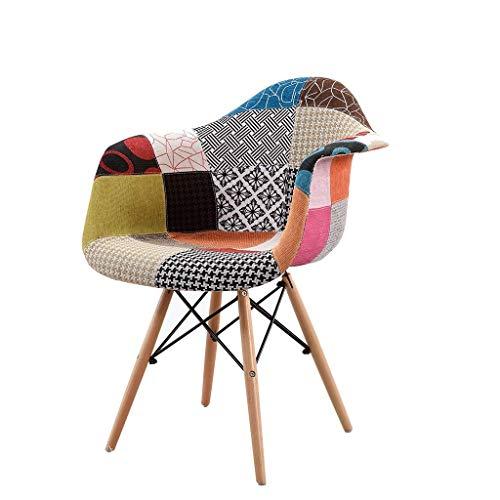 MMAXZ Silla de Comedor Fundas para sillas Silla de Escritorio para el hogar Respaldo Taburete Silla de Comedor Tela Tienda de té Mesa y sillas Silla de Ocio al Aire Libre Peso 150 kg