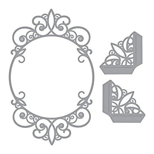 Spellbinders Troquel Shapeabilities Tiara Rondelle, Metal, marrón, 22.3 x 12.9 x 0.2 cm